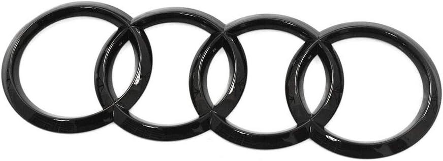 Ringe Emblem schwarz Zeichen Heckklappe Black Edition Blackline Logo Q8 SQ8