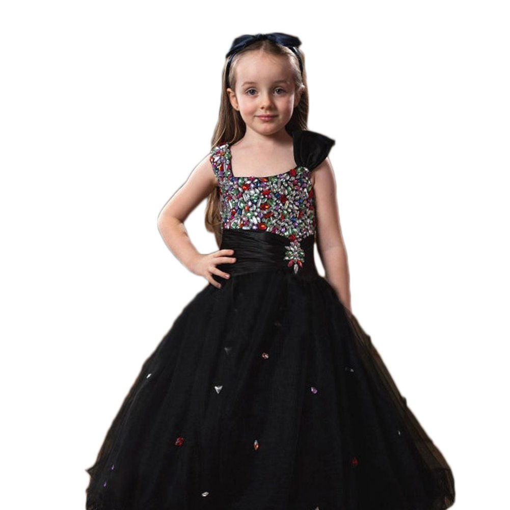 Love Dress Flower Girls Dress Beading Tulle Long Prom Dresses Us 12