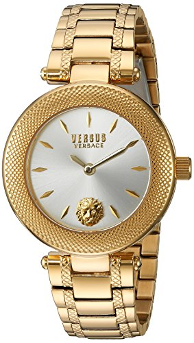 Versus by Versace Women's 'BRICK LANE' Quartz Stainless Steel Casual Watch, Color:Gold-Toned (Model: S71050016)