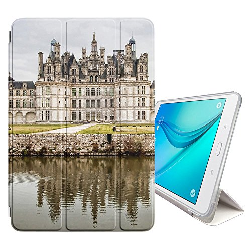 - Graphic4You Chambord Castle France Postcard Design Ultra Slim Case Smart Cover Stand [with Sleep/Wake Function] for Samsung Galaxy Tab A 8.0