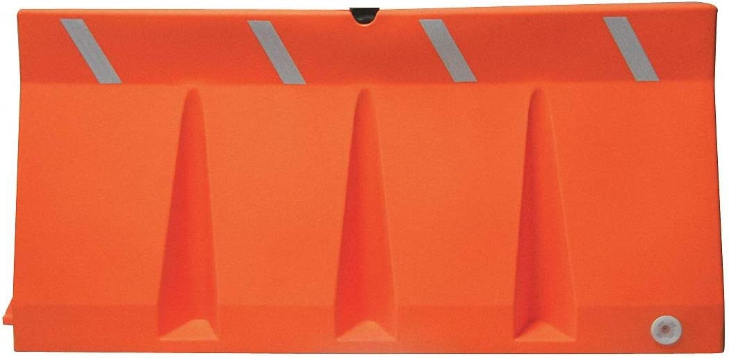 Jersey Barrier 34 x 73-3//4 x 18 Orange Unrated