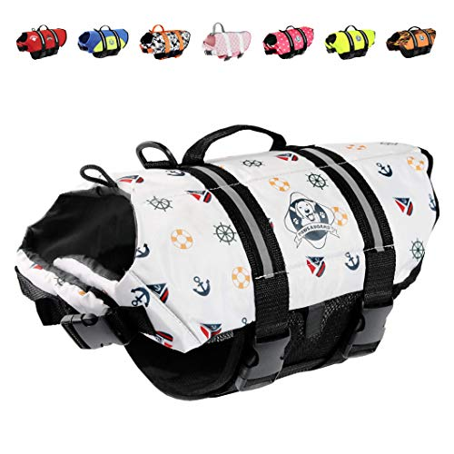 Paws Aboard M1400-N1400 Paws Aboard Doggy Life Jacket Medium - Nautical Dog