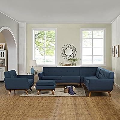 LexMod Engage 5 Piece Sectional Sofa