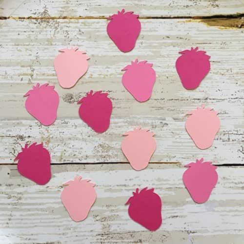 1in strawberry confetti strawberry cut out - How to slice strawberries for decoration ...