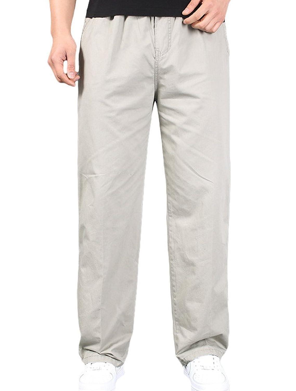 MatchLife Men's New Plain Long Pants Side pockets Trousers