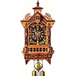 German Antique replica clock 8-day-movement 17.10 inch - Authentic black forest cuckoo clock by Rombach & Haas