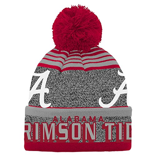 hot sale online 8b8e4 dbbaa NCAA by Outerstuff NCAA Alabama Crimson Tide Youth Boys Jacquard Cuff Pom  Hat, Victory Red
