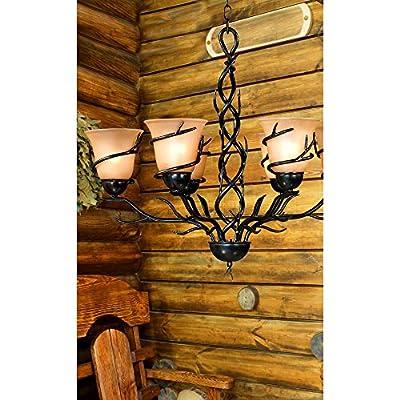 Kenroy Home 90900BRZ Twigs 6-Light Chandelier, Blackened Bronze Finish
