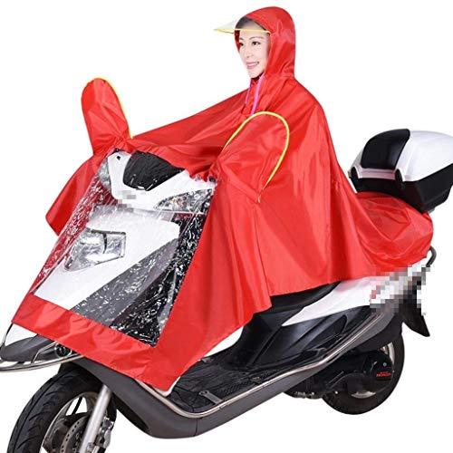 Pluie Ans 20 Moto Rouge Épais Électri De Veste Voiture Unique Imperméable 5Pqw68w1