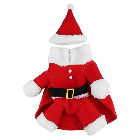 Filfeel Ropa de Perros,Disfraz de Navidad para Mascotas, Ropa de inviern(S)