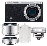 Samsung NX Mini EV-NXF1ZZB4IUS Wireless Smart 20.4MP Mirrorless Digital Camera with 2.96-Inch LCD (Black)