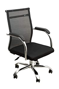 MBTC Oracle Mid-Back Mesh Office Executive Revolving Chair in Black