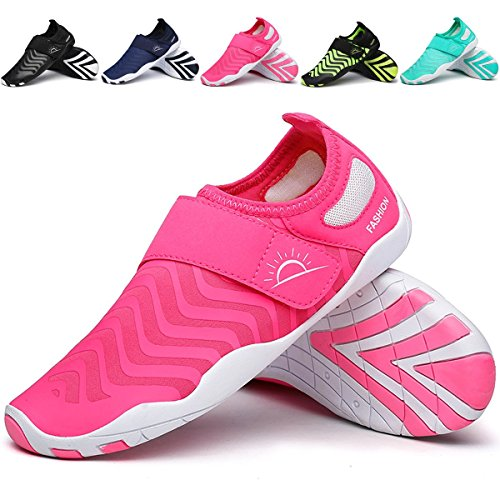 Outdoor Mesh Wading L Heeled Flat Unisex Casual Mutifunctional Red Shoes Rose Breathable Sports RUN xI886qFwE