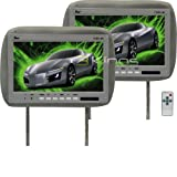 Universal Pair of Tview T110pl-grey Headrests with 11.2 Inch Car Monitors