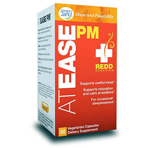 Redd Remedies - at Ease PM, Promotes a Restful Sleep with GABA and L-Theanine, 30 Count