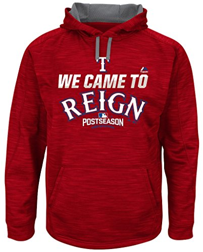 VF Texas Rangers MLB Mens Majestic 2016 We Came to Reign Hoodie Red Size 4XL (Texas Rangers Mlb Hoody)