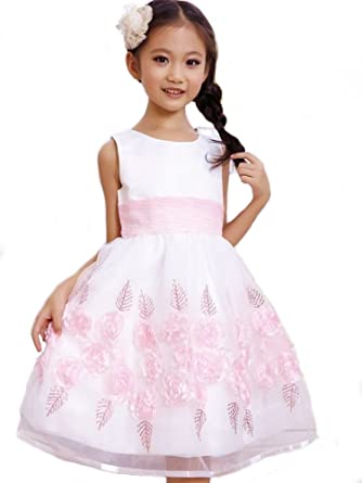GIRLS Flower Formal Wedding Bridesmaid Party Christening Dress 6