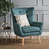 Christopher Knight Home 300788 Tamsin Arm Chair, Dark Teal For Sale