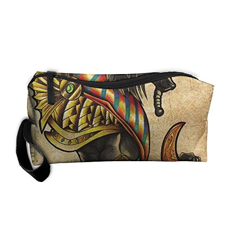 Egypt Anubis Pouches Bags Cosmetic Bag Womens Travel Bag Wear Resistance For Couple by Zhaoqian