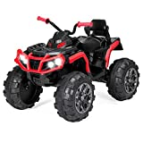 Best Choice Products 12V Kids 4-Wheeler ATV Quad Ride On Car Toy w/ 3.7mph Max, LED Headlights, AUX Jack, Radio - Red