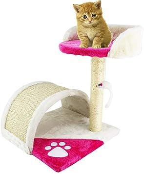 Gato del árbol Gatito Marco de escalada Columna de sisal Plataforma de salto para gatos Juguete para gatos Suministros para mascotas (Rosa roja, beige),beige: Amazon.es: Bricolaje y herramientas