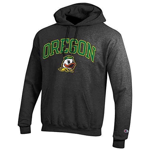 (Elite Fan Shop Oregon Ducks Hooded Sweatshirt Varsity Charcoal -)