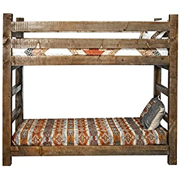 Montana Woodworks Homestead Collection Bunk Bed, Twin, Stain and Lacquer