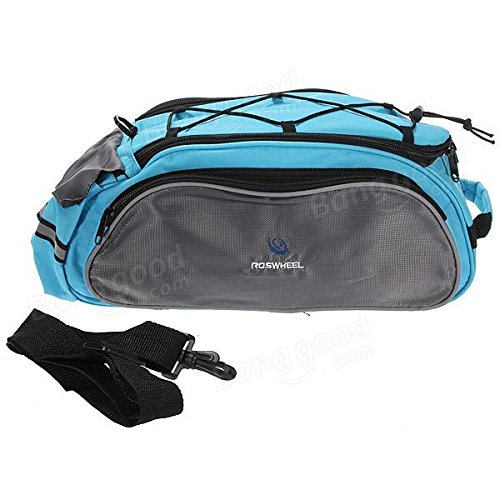 Multi Bike Bicycle Rear Seat Tail Bag Pannier Handbag Double Sides ( Blue )