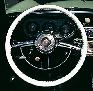 product image for Wheelskins WS10217XX Genuine Leather White Size AXX Steering Wheel Cover