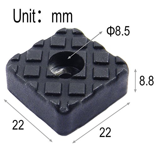 QY 20PCS Square Shape Rubber Non Slip Non Skid Feet Pad for Table Desk Chair and Sofa Black 22MM by Qualtiy Yes (Image #2)