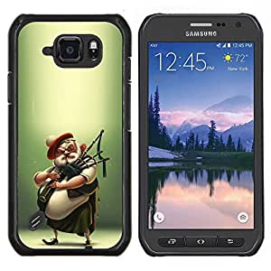 LECELL--Funda protectora / Cubierta / Piel For Samsung Galaxy S6Active Active G890A -- Scottish jugador de la gaita Kilt Hombre --