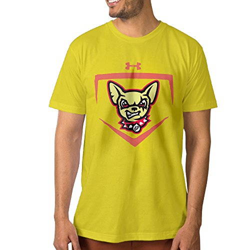 El Paso Chihuahuas Cap Insignia Men's Short-Sleeve Crew Neck Yellow T-Shirt