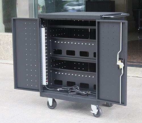 Pearington 30 Bay Charging Cart For I Pad Tablets