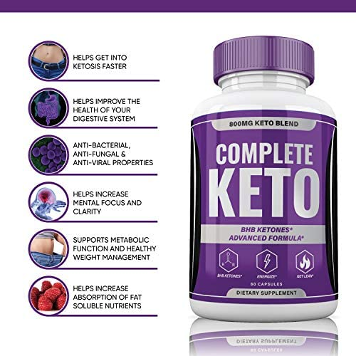 Complete Keto Pills 800mg, Keto Complete Diet Pills Capsules BHB Supplement, Complete Ketogenic Diet for Beginners, BHB Ketones Slim Pills for Energy, Focus - Exogenous Ketones for Men Women 4