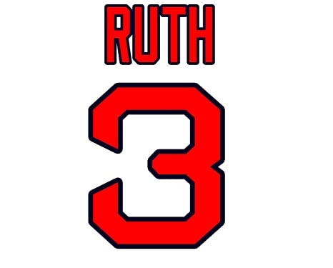 babe ruth boston red sox jersey number kit authentic home jersey rh amazon com boston red sox font generator boston red sox font style