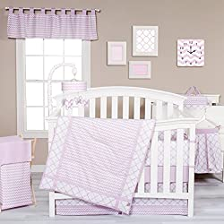 Trend Lab Orchid Bloom 3 Piece Crib Bedding Set, Purple
