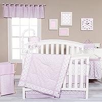 Trend Lab Orchid Bloom 3 Piece Crib Bedding Set, Purple