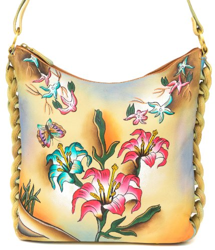 ZIMBELMANN STELLA Genuine Nappa Leather Hand-painted Hobo Shoulder Bag by Zimbelmann