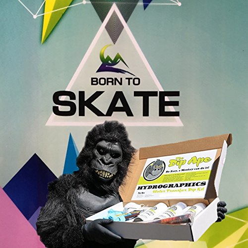 Dip Ape Born to Skate Hydrographics Water Transfer Hydro Dip Dipping Kit (Ape Skate)