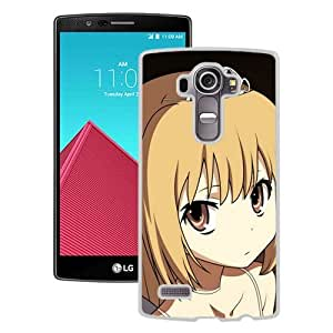 Popular And Unique Designed Cover Case For LG G4 With Anime Girl Blond Wings Tiara white Phone Case BY icecream design