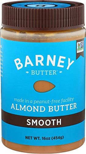 BARNEY Almond Butter, Smooth, Paleo Friendly, KETO, Non-GMO, Skin-Free, 16 Ounce