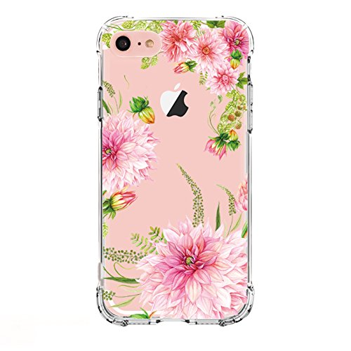 LUOLNH iPhone 6 Plus Case,iPhone 6S Plus Case,Dahlia Series TPU Bumper Soft Protective Slim Flexible Silicone Glossy Skin Cover Case for iPhone 6 Plus/ 6S Plus
