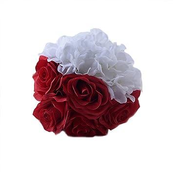 Amazon De Bestoyard Brautstrauss Romantische Kunstliche Rosenstrauss
