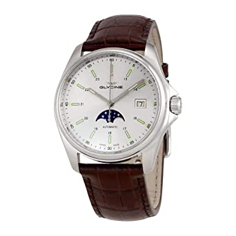 Gl0115 Automatic Silver Classic Dial Men's Glycine Combat Moonphase Watch 6 WdQxorCeB