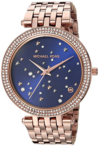 Color Watch Gold Crystal Links (Michael Kors Women's 'Darci' Quartz Stainless Steel Casual Watch, Color:Rose Gold-Toned (Model: MK3728))