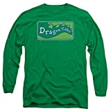 Dragon Tales Animated Series Show Logo Clean On Green Adult Long Sleeve T-Shirt