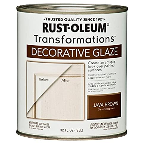1-qt. Java Brown Cabinet Decorative Glaze (2-Pack) - Glaze Wood Cabinets