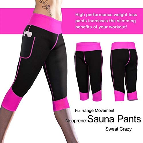 Women Weight Loss Hot Neoprene Sauna Sweat Pants with Side Pocket Workout Thighs Slimming Capris Leggings Body Shaper 7