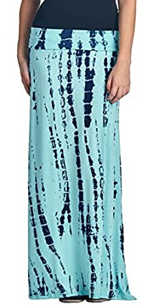 Popana Print and Tie Dye Maxi Skirt ST20 XL - Made In USA