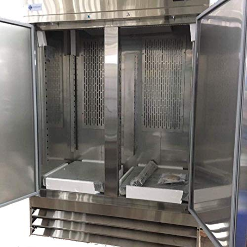 Alpha Chef Equipment Commercial Reach-In Freezer – 47 CuFt. Stainless-Steel Double Solid Door